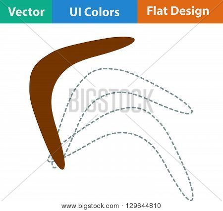 Flat Design Icon Of Boomerang
