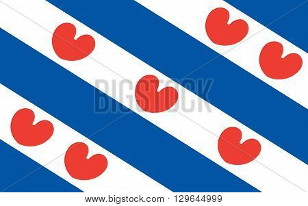 Flag of Friesland or Frisia is a province in the northwest of the Netherlands