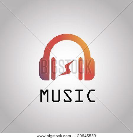 Modern vector music logo. fm, radio. EPS10