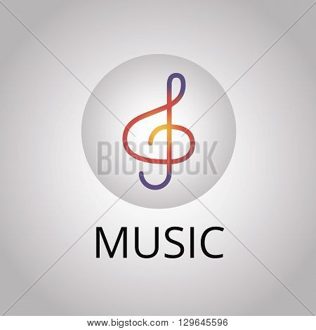Note abstract isolated on a white backgrounds, vector illustration