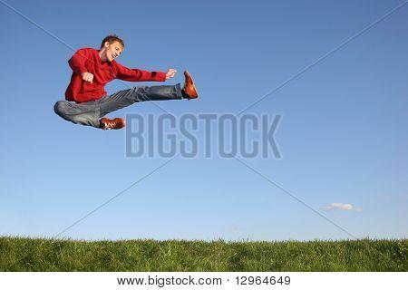 saltar figth hombre