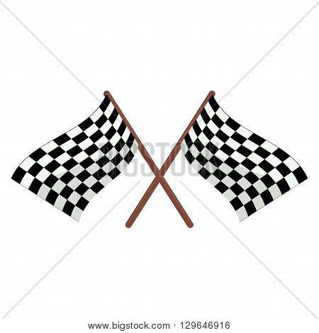 Checkered racing flags illustration cartoon finish sport
