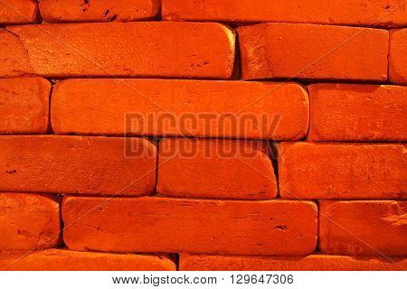 Red brick texture. Brick pattern for interior design purposes