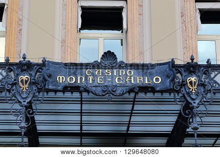 Monaco, Monaco - May 19: This is entrance of the world famous Monte Carlo Casino in the Principality of Monaco May 19, 2015 in Monaco, Monaco.