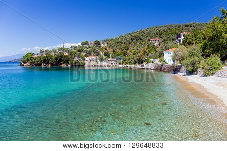 Beautful Beach in Milina village, Pelio, Greece
