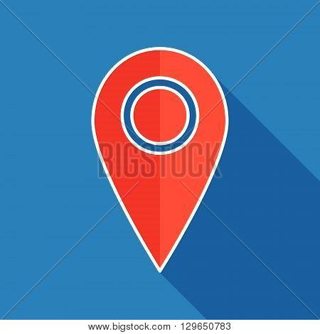 Map pointer flat icon. Pointer web symbol. Vector illustration