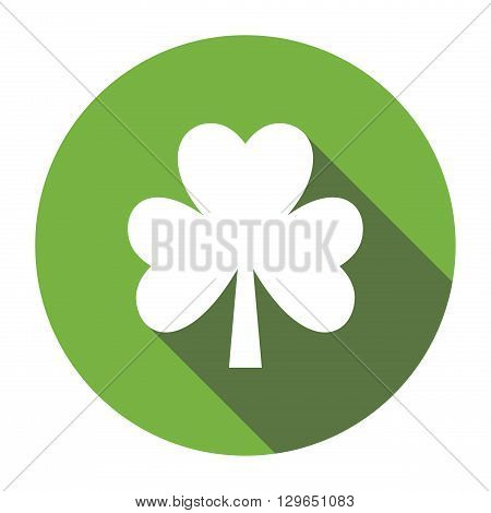 Four leaf clover. Shamrock. Flat design. Isolated on white background. Good luck symbol
