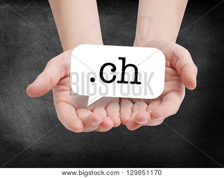 .ch written on a speechbubble