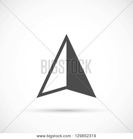 Navigation arrow icon. Navigation bacsic vector element