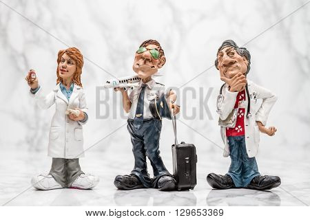Collection Of Statuettes Of Different Profesions