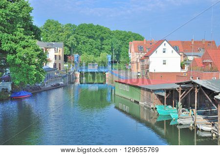 Village of Plau am See in Mecklenburg Lake District,Germany