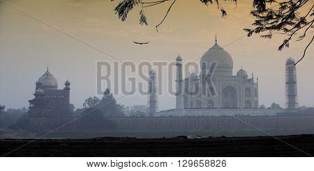 Amazing sunset from Taj Mahal India - Agra