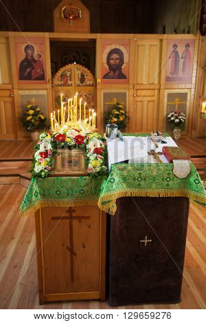 Altar and icon in the Christian Church