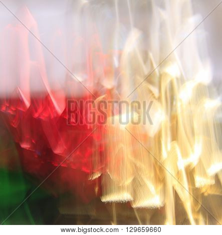 colorful abstract blurred background created from foil bows