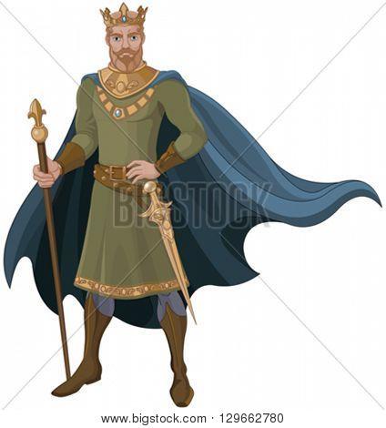 Illustration of majestic king