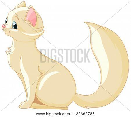 Illustration of a cute kitten