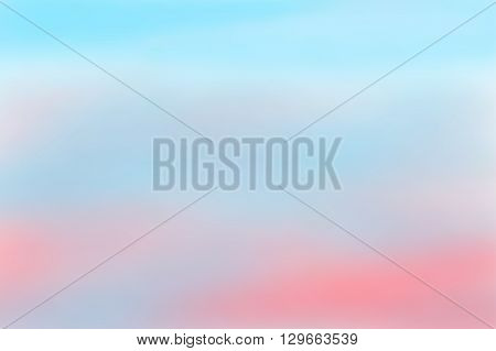 Pink and blue blurred background. Colorful defocused scenic background. Soft colored gradient backdrop. Abstract blurry sunset. Vector illustration