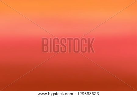 Orange blurred background. Colorful defocused scenic background. Soft colored gradient backdrop. Abstract blurry sunset. Vector illustration