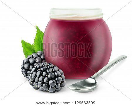 Isolated Blackberry Jam