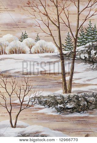 Winter Siberian landscape