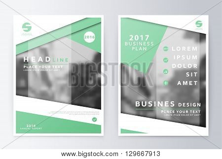 Annual report  brochure. Business plan flyer design template. Business paper. Leaflet cover presentation  layout in A4 size.