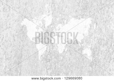 Metal Rust Wall Texture Surface With World Map