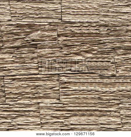 Seamless stone wall texture. Wooden bricks wall pattern