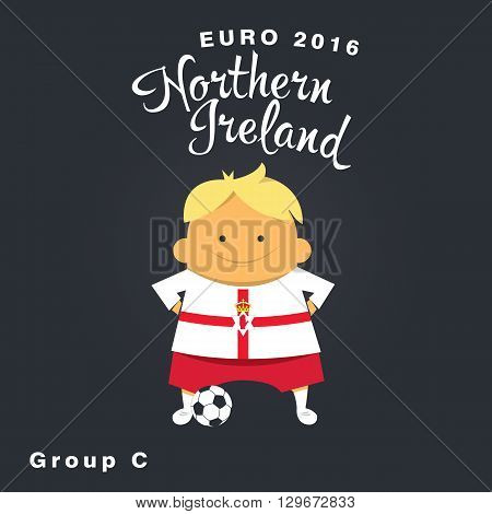 Euro 2016 championship icon, Nothern Ireland, group C.