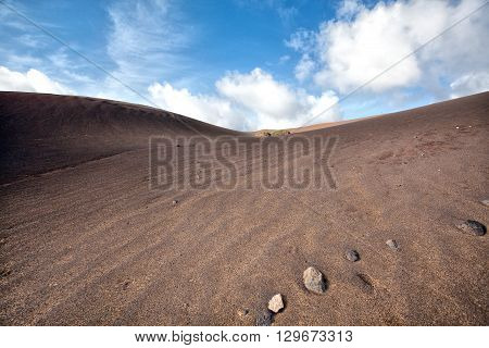 National Park Timanfaya on the island of Lanzarote Canary Islands, Spain.