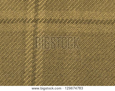 Tartan Fabric Background Sepia