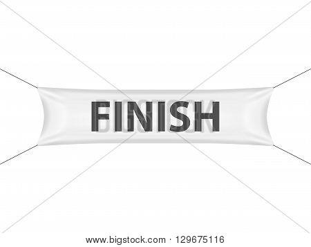 Finish banner on a white background. Vector illustration.