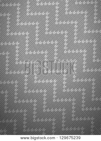 Knitted grey pattern background texture. Vector illustration.