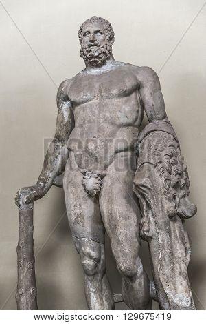 Statue Of A Nobel Roman Man, Rome, Italy