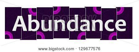 Abundance text written over pink purple background.
