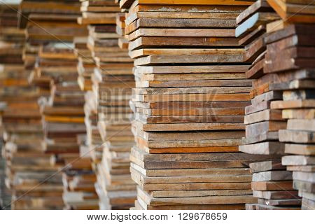 pile of Lumber for construction texture or background pattern