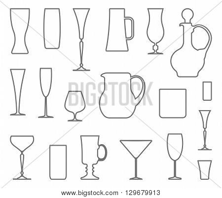 Outlines of ware from glass and crystal