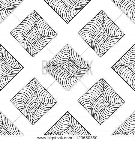 Seamless background with modern abstract geometrical  ornament.   cover wrapper fabric textile.