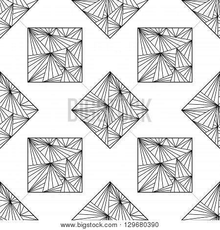 Seamless background with modern abstract geometrical or zentangle ornament.   cover wrapper fabric textile.