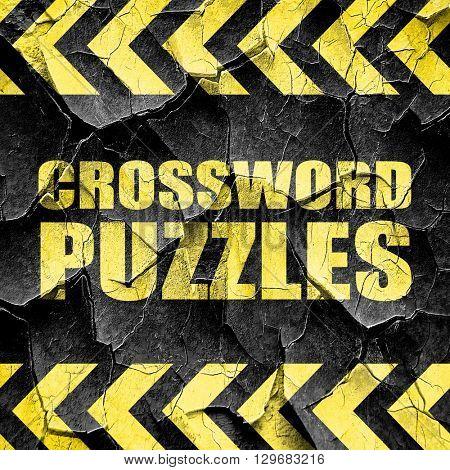 crossword puzzles, black and yellow rough hazard stripes