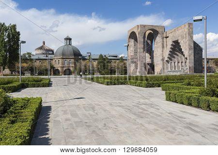 Echmiadzin, Armenia - May 02, 2016: Etchmiadzin Monastery Complex