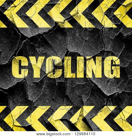 cycling, black and yellow rough hazard stripes