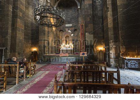 Echmiadzin, Armenia - May 02, 2016: Iside Armenian Apostolic Church