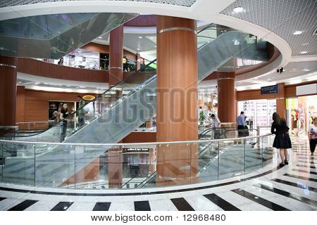 escalator in the trade center