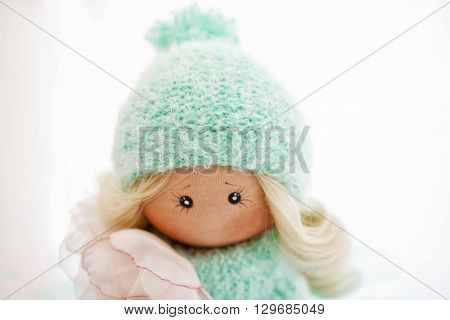 Textile Doll With Natural Blonde Hair