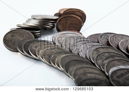 fragment of transformation of small streamlets of the movement of small change into big cash flows