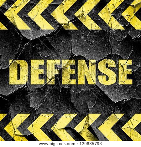 defense, black and yellow rough hazard stripes