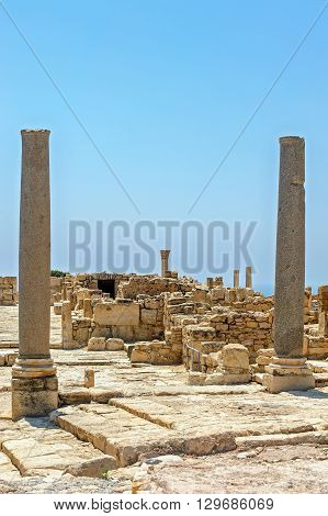 Ruins of ancient town Kourion on Cyprus