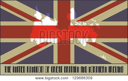 colors of the British flag made in retro style with Ben-Day dots. With transparency and blending modes.
