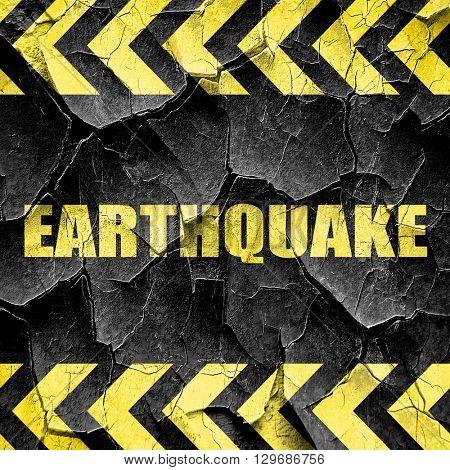 earthquake, black and yellow rough hazard stripes