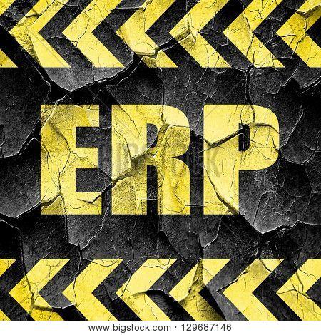 erp, black and yellow rough hazard stripes